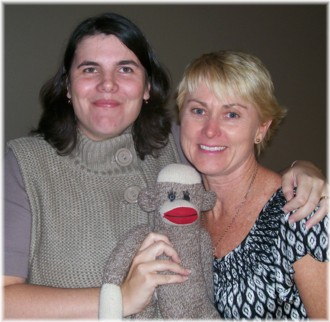 Madonna Dunn, Megan Hayes and the infamous Sock Monkey!