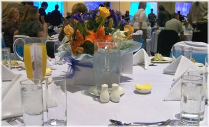 Our sensational dinner setting!