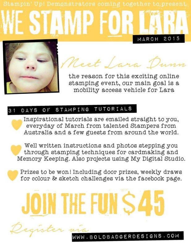 We Stamp For Lara!